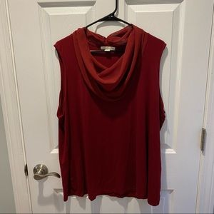 Coldwater Creek Size 2X red tank (cowl neck)